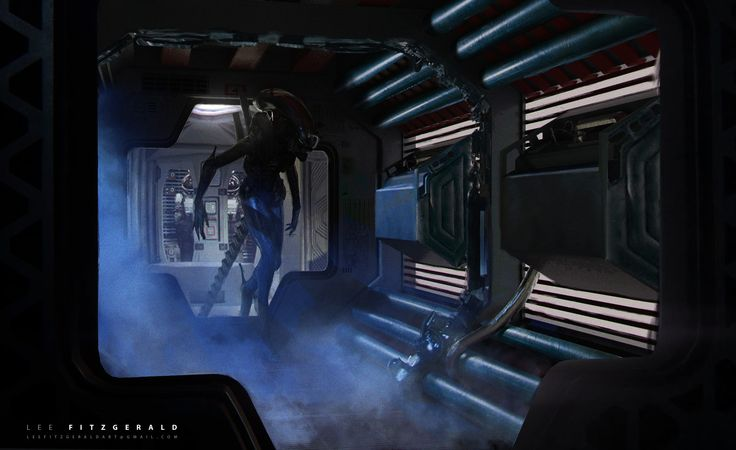 The Eighth Passenger, Lee Fitzgerald on ArtStation at https://www.artstation.com/artwork/k2o6y