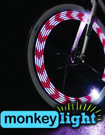 http://www.bellsandwhistles.co.nz/collections/bike-lights/products/monkeylectric-m210-light MonkeyLectric M210 Bicycle Spoke Light, Bike Light. The Monkey light includes 20 themes with hundreds of colour combinations. #spokelight #monkeylectric #bicyclelight #bikelight