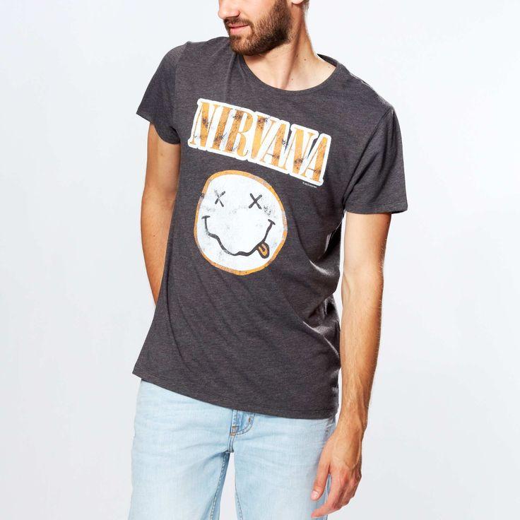 Maglietta jersey stampa 'Nirvana' Uomo - Kiabi - 10,00€
