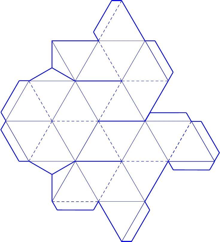 90 best geometric nets tilling images on pinterest for Geometry net templates