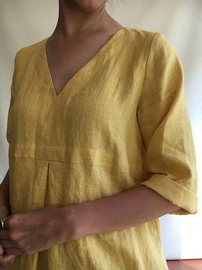 9945f1243 Linen Tunic Plus size tunic Linen Dress for Women by linenbees