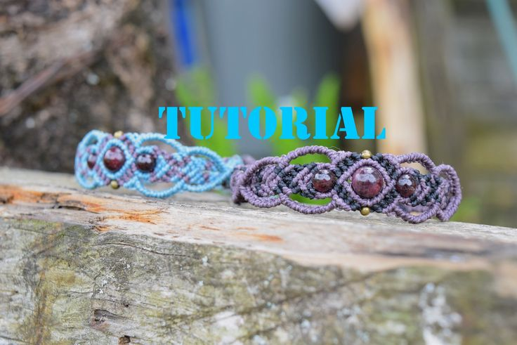 macrame bracelet tutorial. easy and beautifull 1 mm cord, 2, 6mm beads, one 8 mm bead, 2 4mm beads