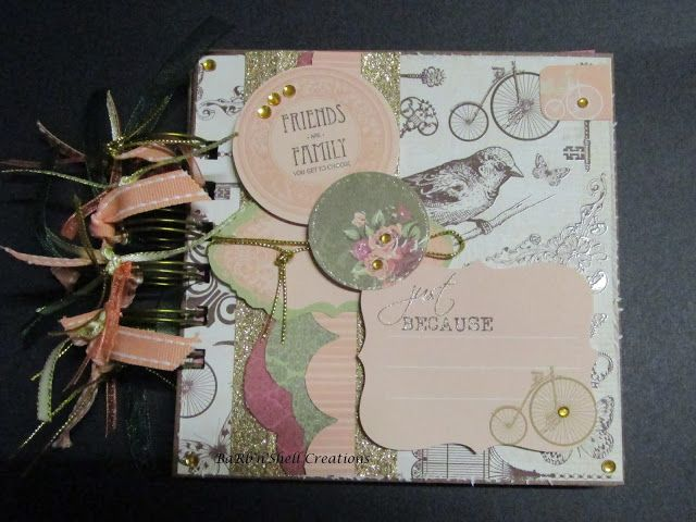 BaRb'n'ShEll Creations  - Kaiser Lady Rose Mini Album - made by Shell