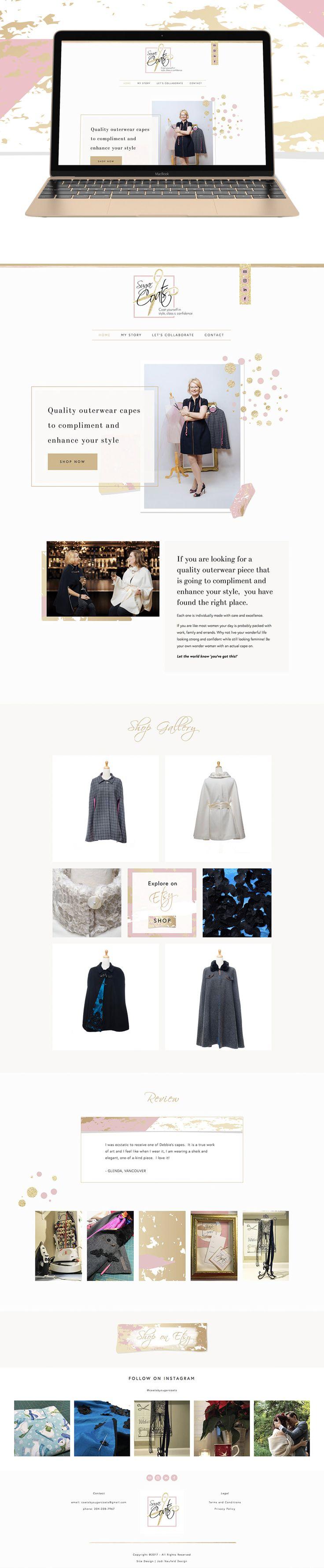 Sugar Coats home page website design | Squarespace website design for Etsy clothing seller by Jodi Neufeld Design