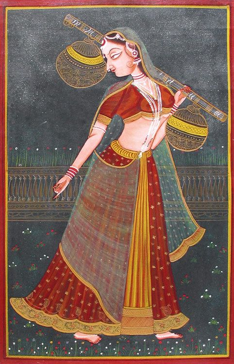Ragini - Miniature Painting from Rajasthan