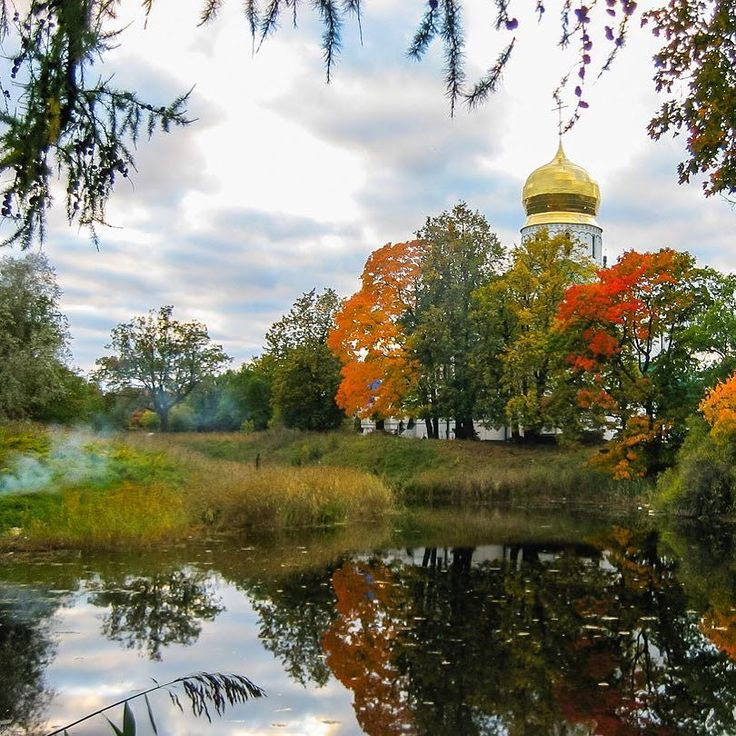 . . #church #autumn #lake #greatview #landscapephotography #landscape #pushkin #spb #saintpetersburg