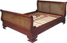 Modern rattan bed frame