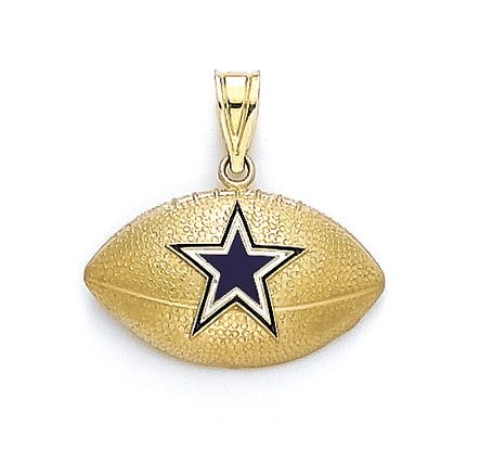 14K Gold Dallas Cowboys Football Pendant. See More...