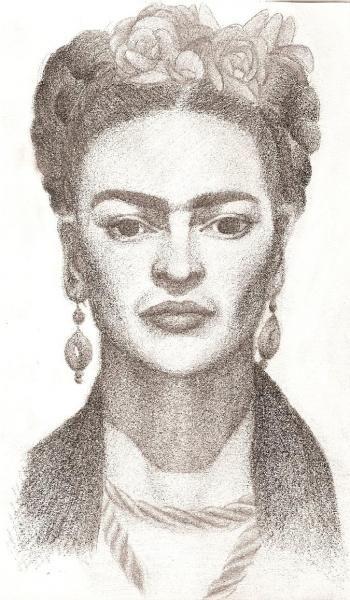 Pencil Drawings:Frida Kahlo