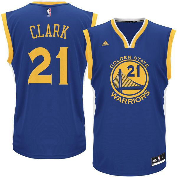 db94ab7dd ... Throwback Jersey Ian Clark Golden State Warriors adidas Replica Jersey  - Royal - 69.99 ...