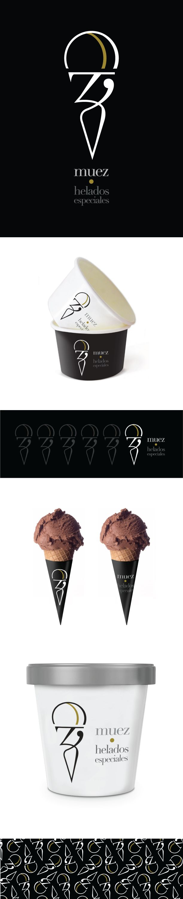 Muez por latte.com.mx #food #icecream #identity #graphicdesign #logo #mexico #branding #biblioteques_UVEG