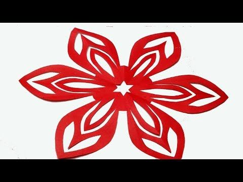 How To Make Easy Simple Paper Cutting Flower Easy Paper Cutting