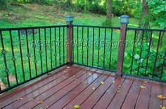 Metal Porch Railing | Metal Deck Railing - Wood, Aluminum, Galvanized Iron and Stainless ...