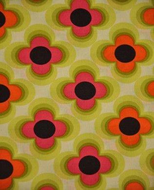 1059 04 Retro Floral Pink | Copenhagen Print Factory | Copenhagen Print Factory | Retro Flower