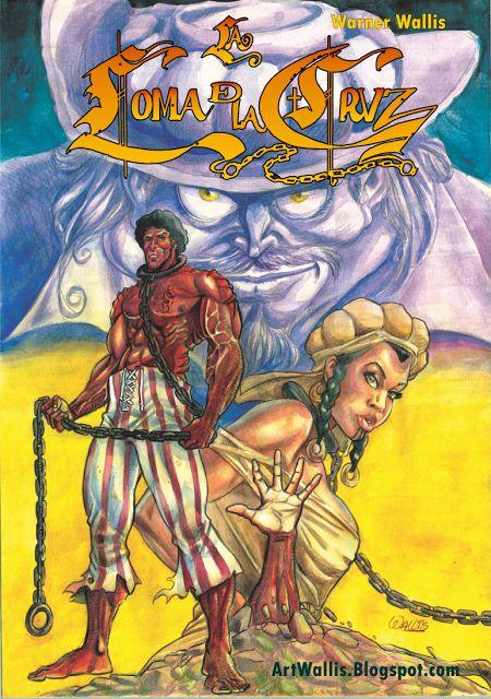 La Loma de la Cruz-Cover  #comic #watercolors #painting #graphicnovel #illustration #history #cover #comiccover #cali #colombia