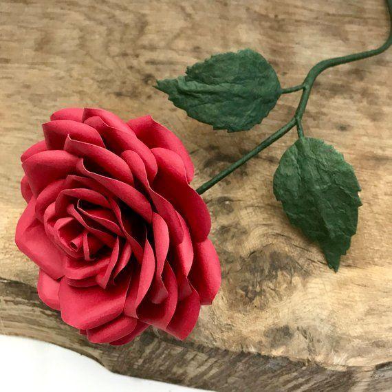 Paper Rose Paper Flower Uk Paper Flowers Gift Weddings 1st