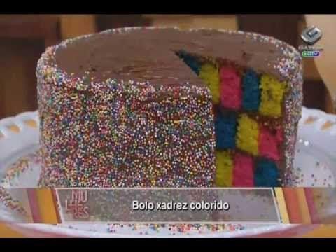 Bolo Xadrez Colorido - Chef Renata Sereguetti - YouTube