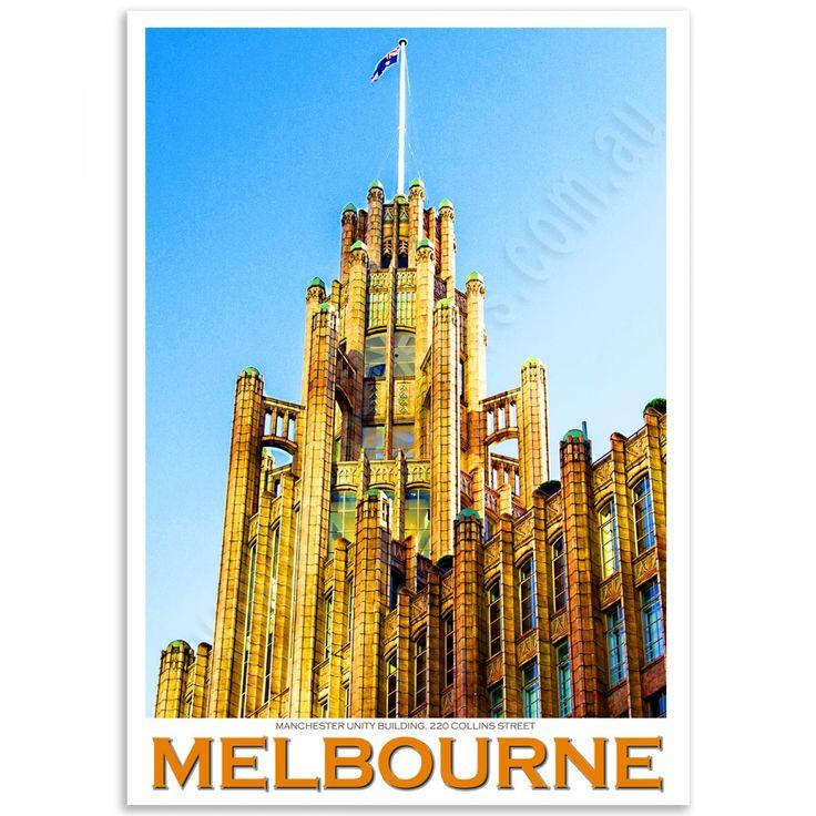 Melbourne Poster - Manchester Unity Building