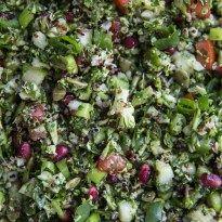 10-Minute Vegan Raw Broccoli Tabouli - Cook Republic