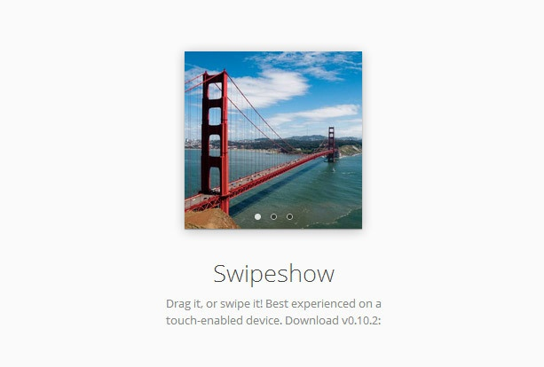 Swipeshow - The unassuming touch-enabled JavaScript slideshow