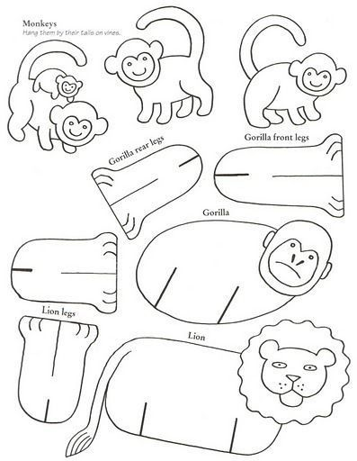 Templates bulk animals - Crafts with children | Detkipodelki