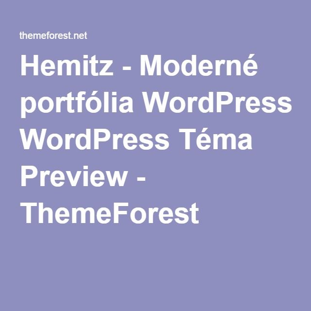 Hemitz - Moderné portfólia WordPress Téma Preview - ThemeForest