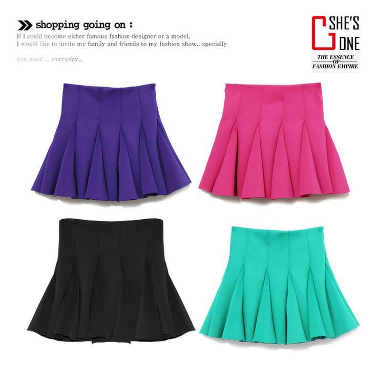 xs s m 110ю  2014 весной новой корейской версии оригинала одиноких женщин высокие юбки талии плиссированной юбкой девушки юбки зонтик - Taobao
