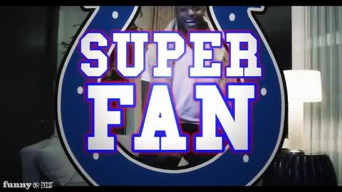 DWIGHT FREENEY: SUPER FAN #FunnyorDie #Sketch #Colts