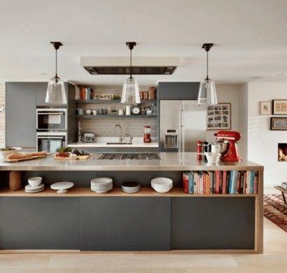 kcheninsel mit extra stauraum kche mit kochinsel gestalten more modern grey kitchengrey - Kchen Modern Wei Mit Kochinsel