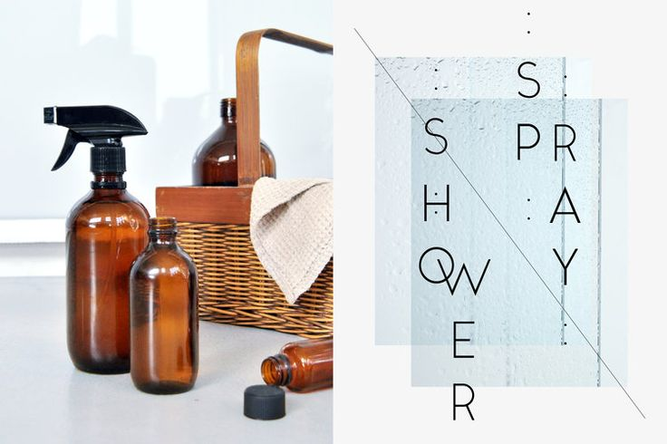 Make your own shower spray with only a few ingredients.