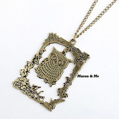 Catholic Bronze Vintage Photo Frame Owl Pendant Alloy Korean Necklaces Bronze. Small and catchy. REPIN if you like it.😍 Only 31 IDR