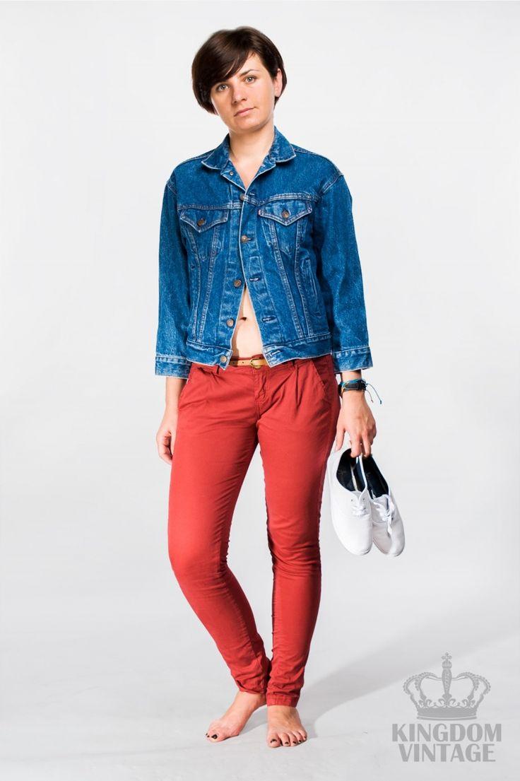 kurtka jeansowa Levi's 3/4 rękaw vintage od Kingdom of Vintage