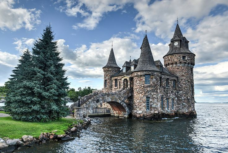 Power House of Boldt Castle in Thousand Islands New York, USA (yes, a castle in the USA).  The castle currently serves as a museum to show how electrical power was obtained in the early 1900's.