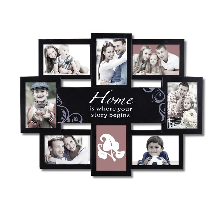 "Furnistars Decorative Black Plastic ""Home"" Wall Hanging Collage Picture Photo Frame"
