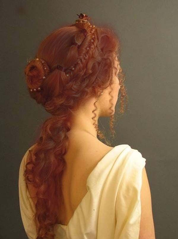 Long Ginger Braided Hairstyle Hair Styles Renaissance