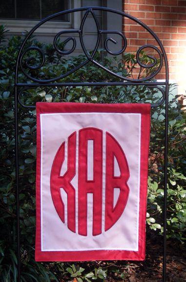 Monogrammed Garden Flag