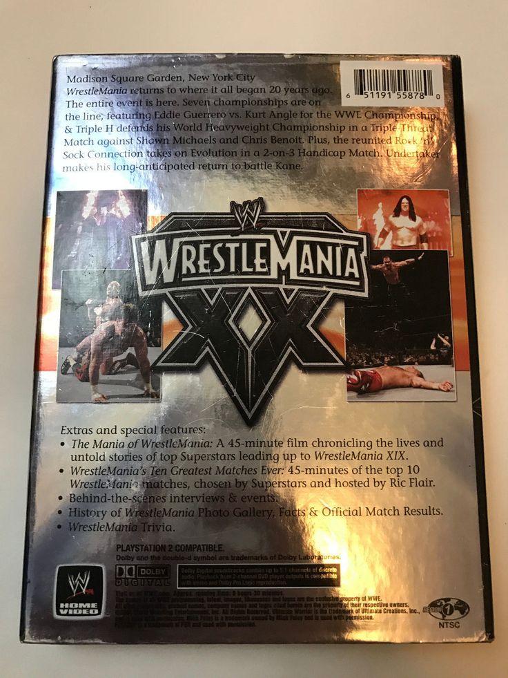 Wrestlemania Xx Dvd