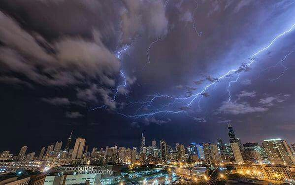 Lightning over Chicago. August 2nd 2015. Photo Credit: Barry Butler Photography courtesy of NBC Chanel 5 News Chicago.
