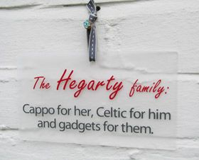 personalised gift wall plaque sign family favourites - Another Gorgeous Day