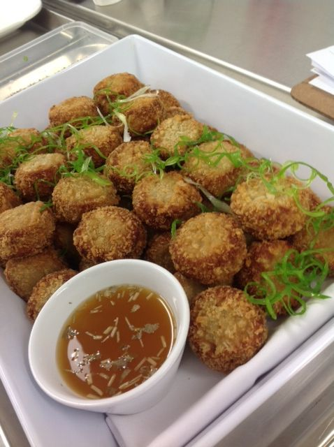 Griddled crab cakes with nam jim