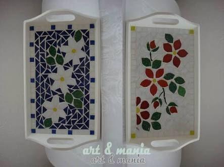 Resultado de imagen para bandejas de mosaico