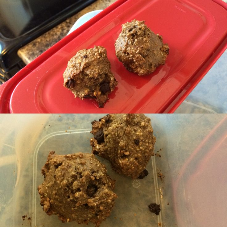 """""""Dulcie's Wholesome Wholemeal Oatmeal Dark Choco Date Banana Cookies"""":    *Use high power food processor*    1date (could add more)  1 large very ripe banana (could add more)  1full egg  BLEND well    1 cup oatmeal  3/4 cup wholemeal flour  1/4 teaspoon Salt  1 teaspoon Cinnamon  1 and 1/2 teaspoon of baking powder   BLEND WELL   1/4 cup dark Choco chips   BLEND for few seconds    Place on greased trays 2 inches apart     Allow to chill in fridge for at least 2 hours before cooking    Bake…"""