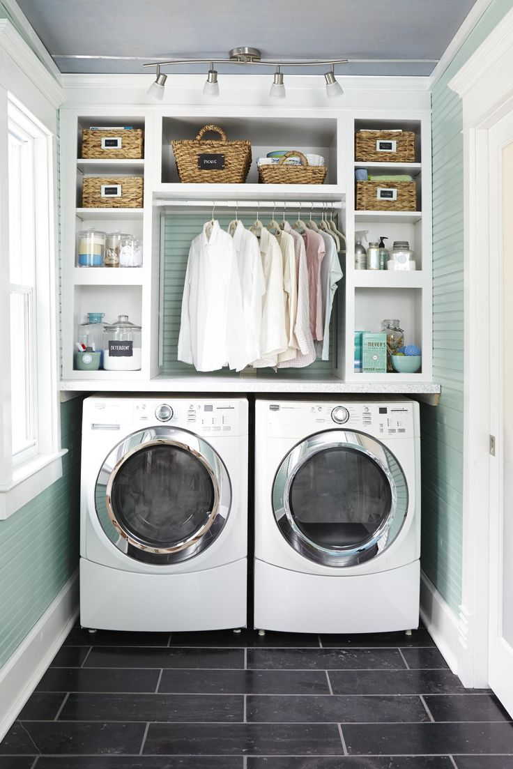 Small laundry room Decorau0027s Daladier cabinets are