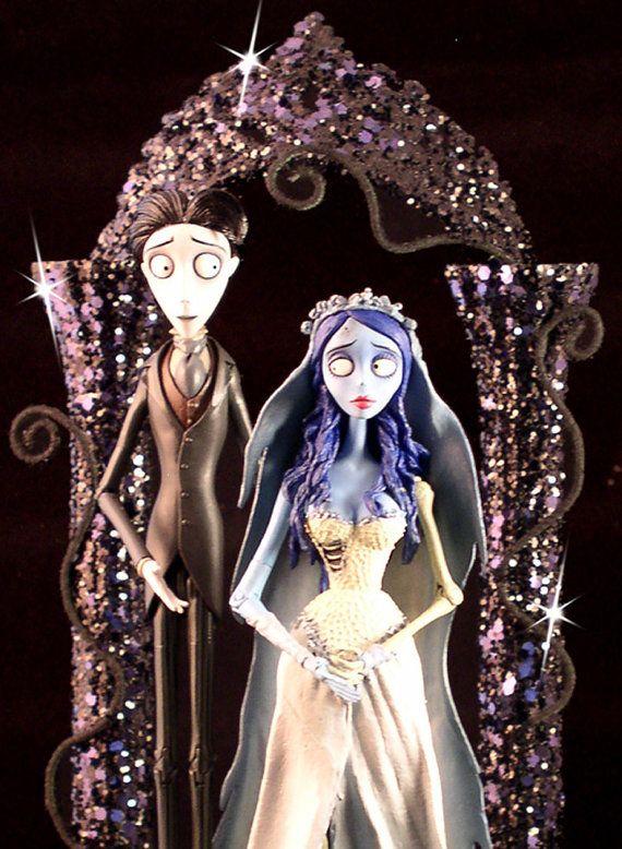 Corpse Bride Wedding Cake Topper Tim Burton Lighted - Halloween