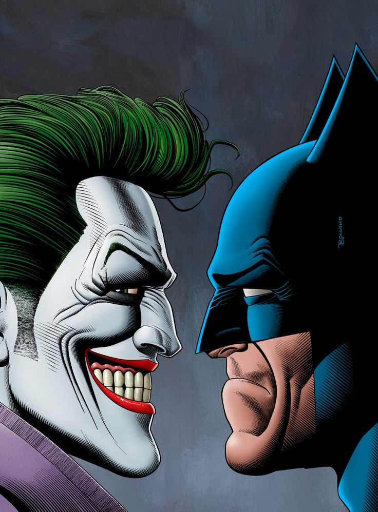 Yeah their are some great rivalries, Red Sox vs The Yankees, Giants vs Patriots, but the greatest rivalry ever, Joker and Batman. Art by Brian Bollard #TheJoker #Batman