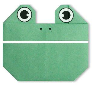 Лягушка - простое детское оригами