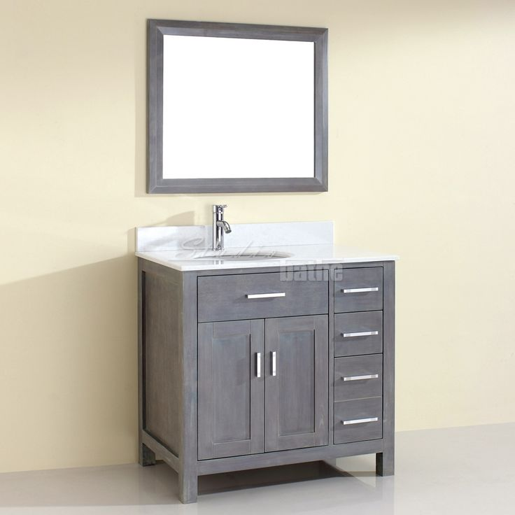 30 Gray Bathroom Vanity Part - 25: Rustic Traditional Bathroom Vanity Kalize 36 French Gray Finish,  Hand-stained, Distressed French
