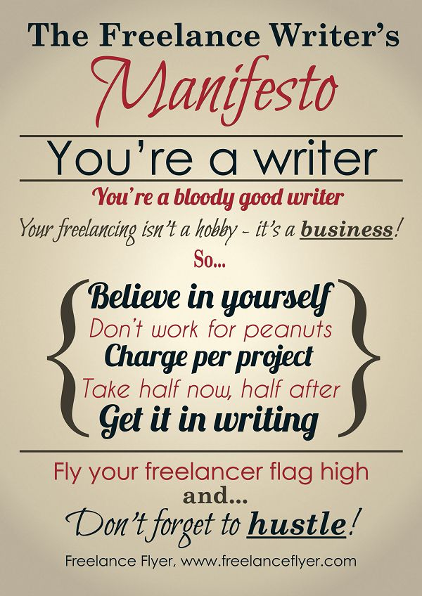 13 best Freelance Flyer images on Pinterest Daily writing prompts