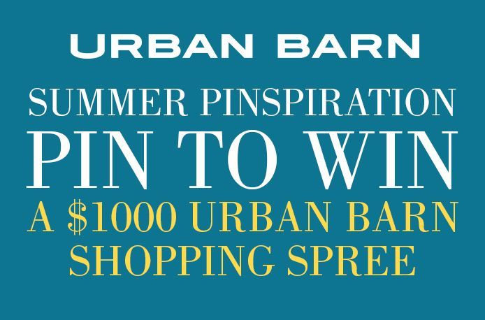 Pin to win a $1000 shopping spree from Urban Barn.