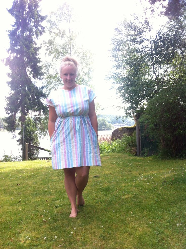 The ice cream-dress from a 40s pattern